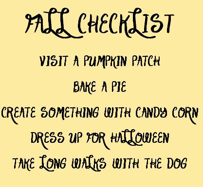 Fall Fun Checklist