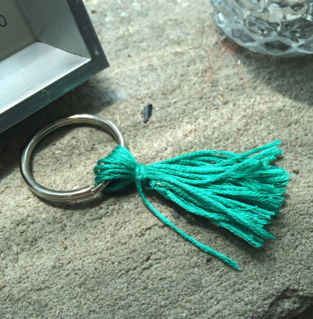 tassle key ring