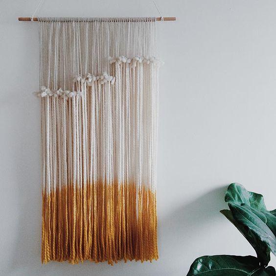 Buy or diy wall hangings jolee for Diy yarn wall art